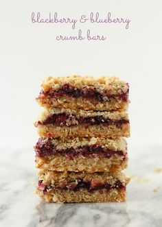 Blackberry Blueberry Crumb Bars on RachelCooks.com