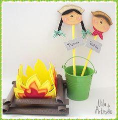 Enfeites para a mesa da festa junina, aprenda como fazer usando o EVA.  #craft #artesanato #eva #diy