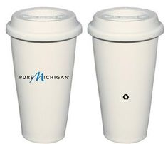 "Pure Michigan ""not a paper cup"" Travel Mug"