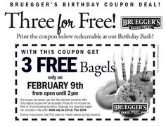 FREE BAGELS!!!!