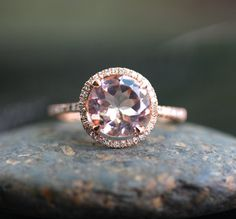 9mm 14k Rose Gold Mo