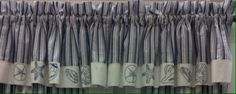 "Seaside Valance 60"" x 15"" @ $29.99.To Order Call toll-free 877-722-1100"