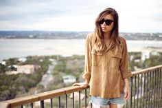 Cute, easy, relaxed look. #fashiontoast
