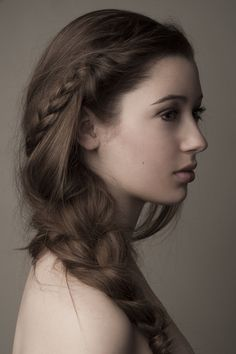 The braid is lovely but the hair color is breathtaking.