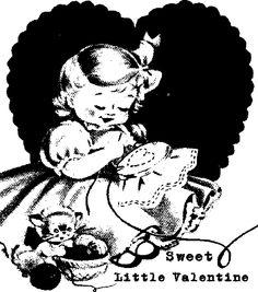Free Vintage Digital Stamp: Vintage Valentine
