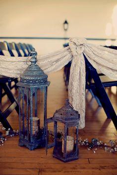 lantern lined aisles // photo by Joyeuse Photography