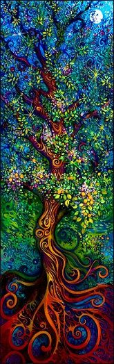 tree of life - love the vibrant colors