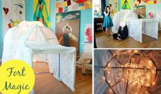 The Artful Parent Blog's igloo fort! Just think how much fun this would be when the lights are off!