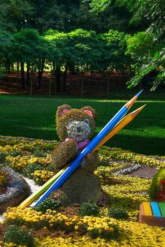 The Back to School Bear - Seen at the Kiev Flower Show, 2013 - mattcreate.com
