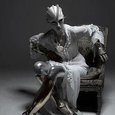 ... cyberpunk, costum, editorial, android, di renzo, queens, patrizio di, dark fashion, drama