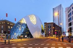 'Entrance building admirant' by Massimiliano Fuksas at the September 18 square in Eindhoven, The Netherlands