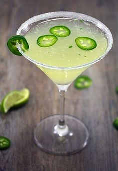 Jalapeno Parsley Sour Martini