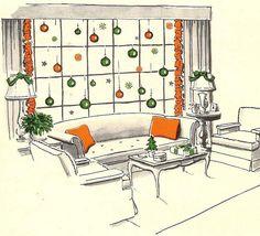 Christmas window, 1954