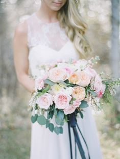 Pink peony bouquet: http://www.stylemepretty.com/canada-weddings/british-columbia/2014/06/25/summer-inspired-wedding-shoot-in-the-okanagan-valley/ | Photography: Christie Graham - http://www.christiegrahamphotography.com/