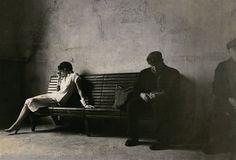 "Deborah Turbeville. ""Atmosphere (Milan train station)"". 1978. Milan, Italy. (Vogue Italia)."