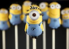 Cute Minion Cake Pops