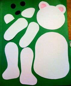 "Cute parts of the body bear craft for kids. From Adrienne In Japan blog. (This would go great with our ""My Teddy Bear"" song, from Super Simple Songs - Animals!)"