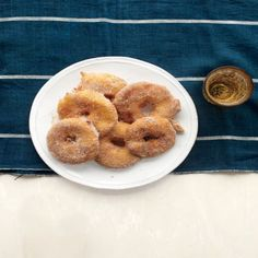 Apple fritter rings -- Just fry them in a frying pan!