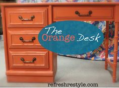 Orange desk, Barcelona and Pure White