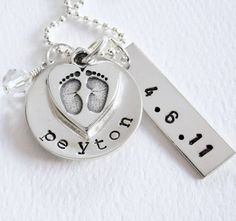 New Baby  New Mom Necklace  Personalized Name by Patricia8Anderson, $46.50