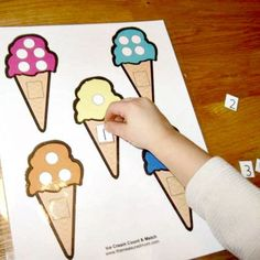 DIY: Ice Cream Counting File Folder Game and Many More File Folder Games