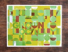 Grown Locally  Three color silk screen print by Manvsink on Etsy, $15.00