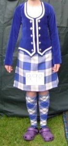 Kilt with royal blue jacket #lennox #royal #tartan
