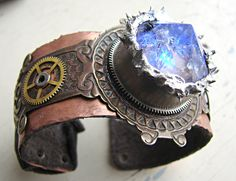 Steampunk Temporal Telegraphic Communication by cityinthesky - lighted cuff bracelet, more pics at link