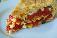 Tomato Corn Pie with Biscuit Crust