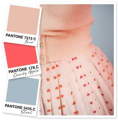 Peach, Red and Silver Color Palette