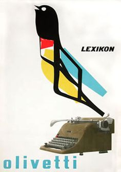 "PG023 ""Olivetti Lexicon"" poster by Marcello Nizzoli (1950)"