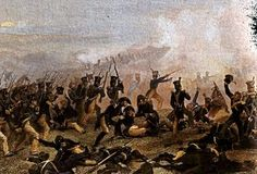 """Painting: """"American Infantry Attacks at Lundy's Lane,"""" by Alonzo Chappell, 1859. Source: Wikimedia Commons. Read more on the GenealogyBank blog: """"Old Obituary Tells War of 1812 Veteran's Story."""" http://blog.genealogybank.com/old-obituary-tells-war-of-1812-veterans-story.html"""