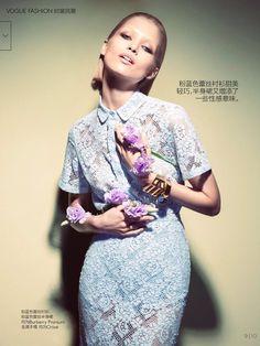 Vogue China, March 2014, Camilla Akrans, Hana Jirickova