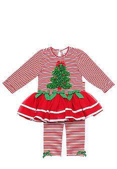 Rare Editions Christmas TuTu Dress Set