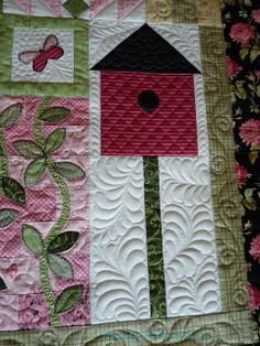 longarm quilting of a sampler quilt by fourseasonsquiltswap, via Flickr