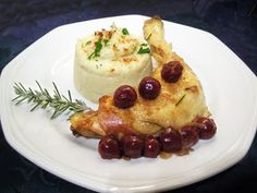Poulet aux cerises - if you can read French.. Enjoy! :) http://www.toques2cuisine.com/2010/02/poulet-aux-cerises.html?m=1