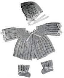 Shell Vintage Baby Set-Size: Infants to 6 months   Crochet Patterns