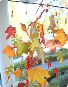 Create your own irresistible magic of autumn leaves blowing in the wind with this homemade wind catcher! (via Centsational Girl)