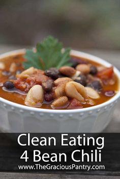 Clean Eating 4 Bean Chili