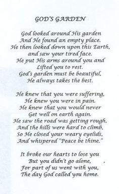 Poem I read at my grandmas funeral!simply beautiful