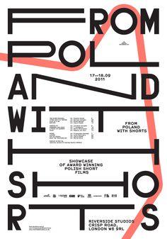 Poster/identity for event showcasing Polish short films. http://edgarbak.info