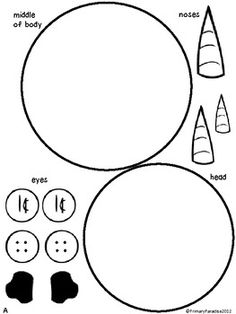 All About Winter Snowman Glyph Activity