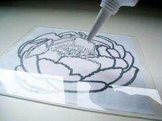idea, crafti, art, silicon caulk, card, stamps, diy, thing, nocarv