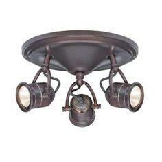 Hampton Bay 3-Light Antique Bronze Round-Base Pinhole Ceiling Fixture-EC4886ABZ at The Home Depot