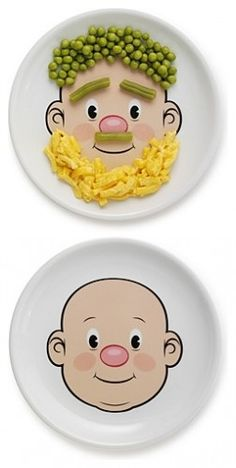 I might even eat my peas if I had this plate... Wait...   peas?  No, probably not peas. :) 7wldkids