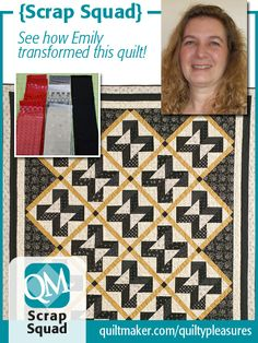 "Emily Bailey transformed Kimberly Jolly's Summer Love quilt into a ""man quilt""! See how she did it on Quilty Pleasures, the blog of Quiltmaker magazine."