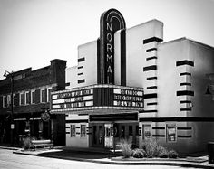 The Normal Theater is a fully restored Art Deco movie theater in Normal, IL. Built in 1937, it was a state-of-the-art cinema and has shown the latest in film entertainment for more than 50 years until the theater closed in May 1990. The Town of Normal purchased the theater in 1993 and restored it to its present fully operational condition. National Register of Historic Places #97000818.