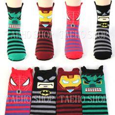 New Korean Legend Print Facial Socks Fashion Women Men Casual Hero Socks