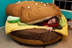 How cute is this hamburger bed?