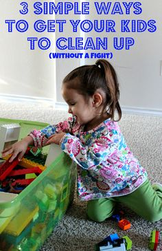 Cleaning with Kids: 3 simple ways to make cleaning up fun.